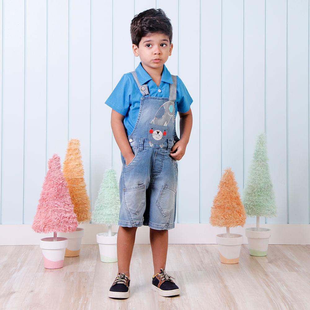Look 544 pp menino alphabeto for Jardineira jeans infantil c a